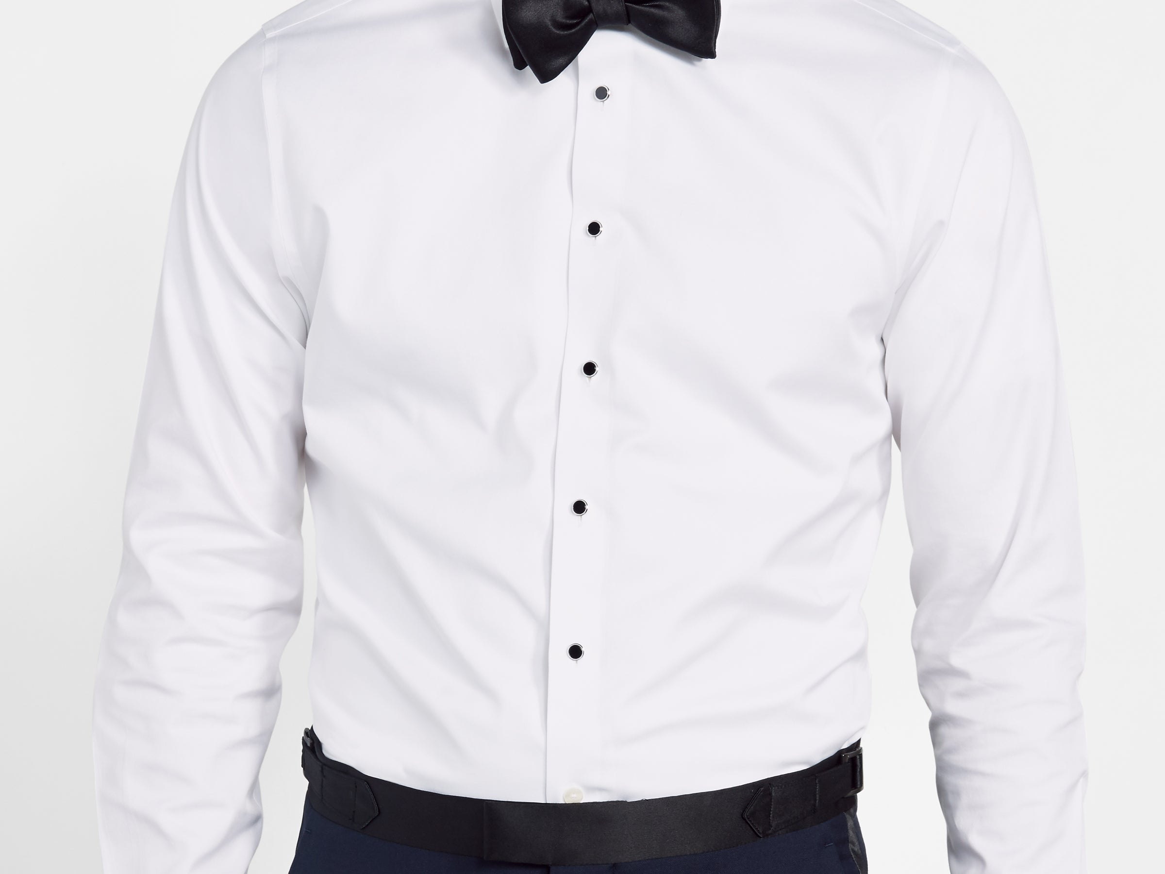 Black shirt with white buttons south park t shirts for Tuxedo shirt black buttons